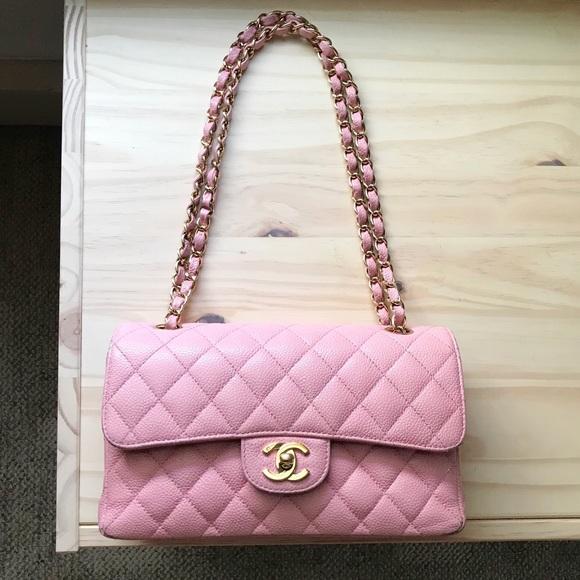 97925818f6e CHANEL - Small Pink Caviar Classic Flap Bag GHW
